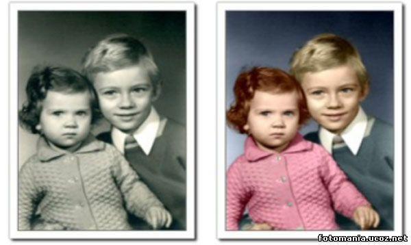 Как черно-белое фото сделать цветным онлайн